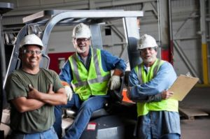 construction and industrial workers